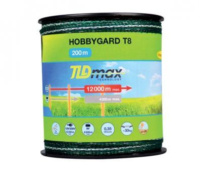 Breitband HOBBYGARD T8, 8mm, grün, TLD - 100m-Spule