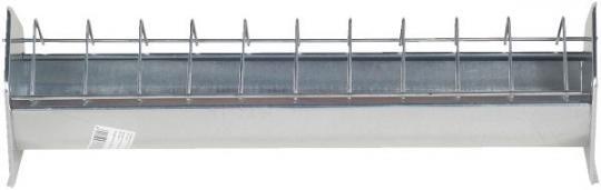 Futtertrog für Jung- und Legehennen aus feuerverzinktem Metall 50cm