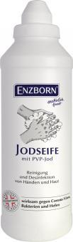 ENZBORN® Jodseife 500ml wirksam gegen Bakterien, Hefen und behüllte Viren (z.B. Coronaviren)