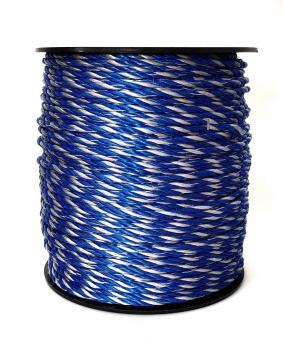 ARNDT Weidezaunseil Wildabwehr 300m, 5mm, 6x0,20mm TBM blau/weiß