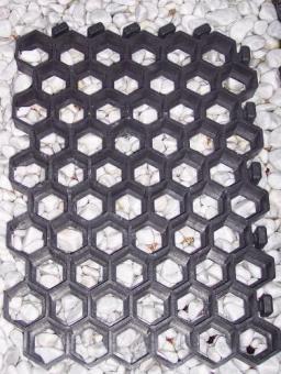 Paddockplatte Rasenwabe 50x40x4 cm, schwarz