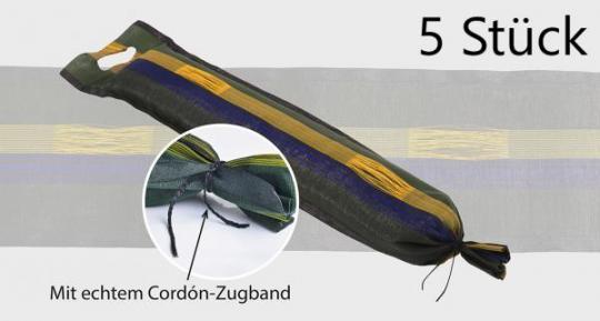 Silosäcke Sandsäcke Zill® 25x100cm mit Cordón Zugband, Tragegriff und Halteschlaufen 5 Stück